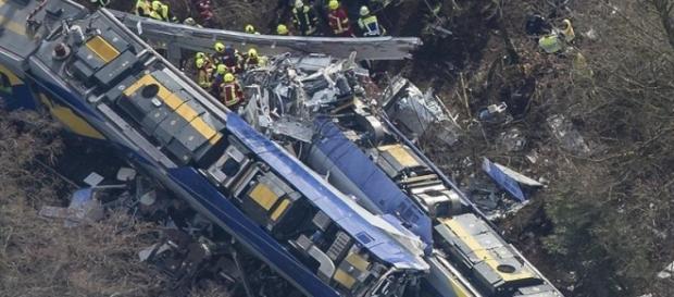 Imagem aérea da colisão dos trens