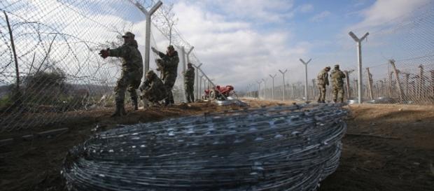 Macedonia-Gardul de sârmă ghipată cu lame Foto AP
