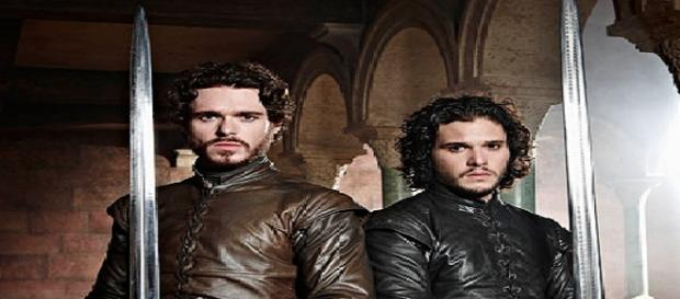 Richard Madden y Kit Harington. E.W.