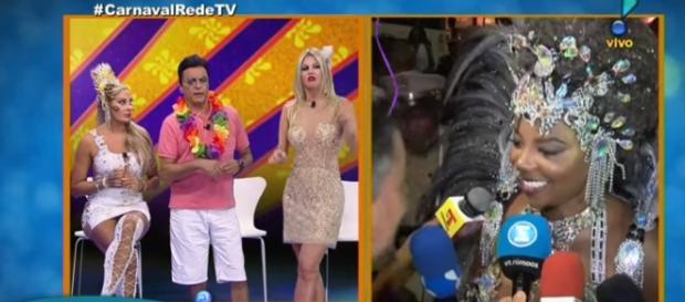 Val Marchiori e Ludmilla (reprodução/Rede TV)