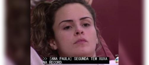 Ana Paula divulga programa da Xuxa na Globo