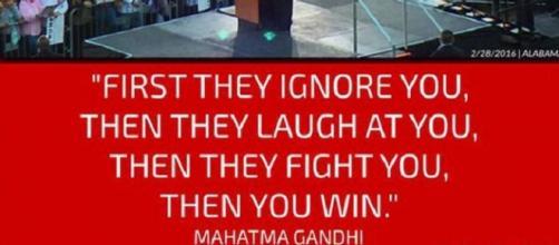 Donald Trump misquotes Gandhi (Instagram)
