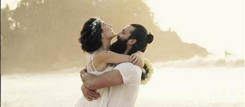 Estrela da novela Rubi se casou.
