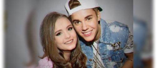 Larissa Manoela posta foto fake com Justin Bieber