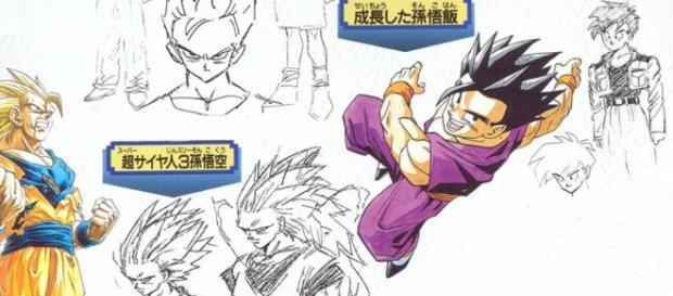 Imagen con los bocetos originales de Toriyama 2