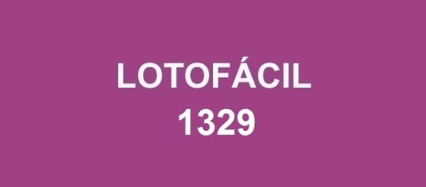Lotofácil 1329 sorteada nessa segunda-feira.