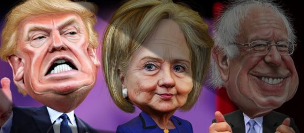 Trump, Hillary Clinton and Bernie Sanders face off