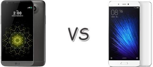 Confronto: LG G5 vs Xiaomi Mi 5