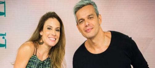 Maira Charken e Otaviano Costa no Vídeo Show