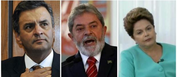 Aécio Neves, Lula e Dilma são apontados