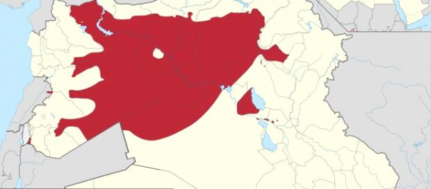 Map of ISIS controlled territory (Wikipedia)