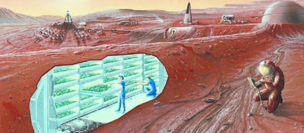 Mars Colony Concept (Credit NASA)