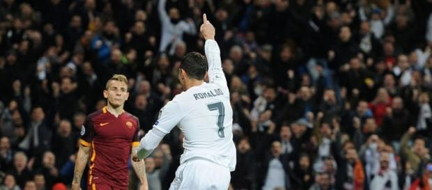 Ronaldo celebrates his 40th goal of the season