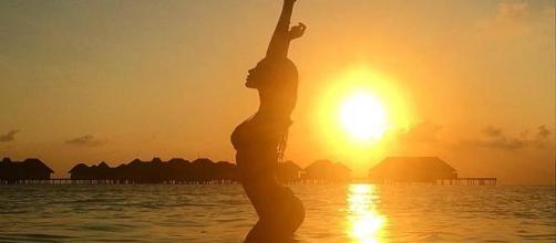 Belen Rodriguez in vacanza alle Maldive