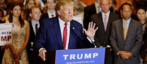 O candidato à presidência dos EUA, em campanha.