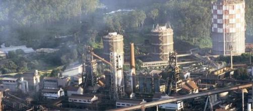 Visão aérea da Usina, em Ipatinga