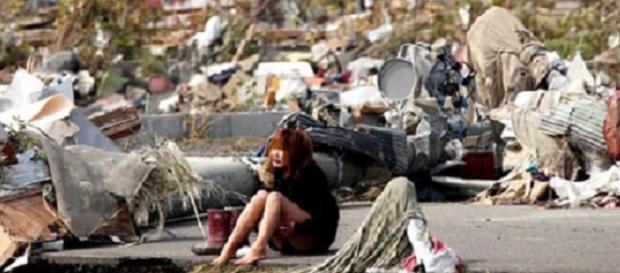 Mujeres supervivientes a la catástrofe en Sendai.