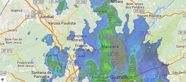 Região atingida http://www1.folha.uol.com.br/