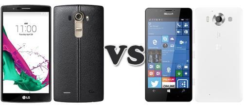 Confronto: LG G4 vs Microsoft Lumia 950