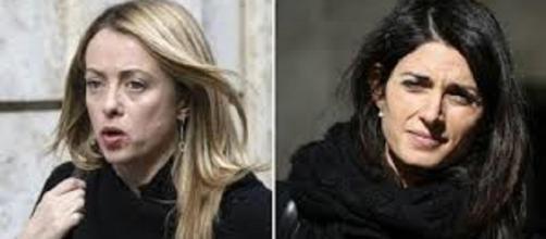 Giorgia Meloni e Virginia Raggi