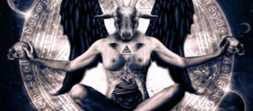 Imagen de la representación del diablo