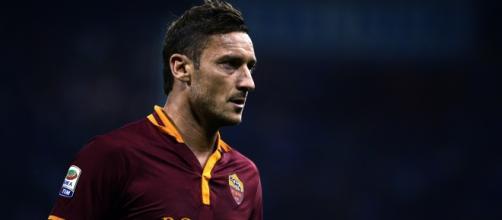 Totti en uno de los encuentros con la Roma
