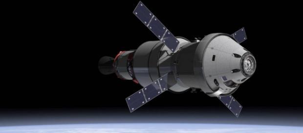 Orion in low Earth orbit (Credit NASA)