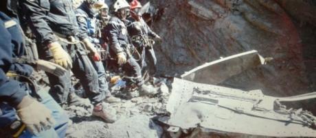 Luogo del disastro aereo della Germanwings