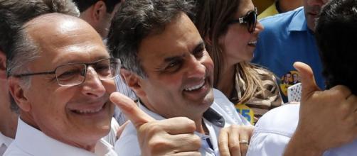 Alckmin e Aécio foram ofendidos na manisfestação