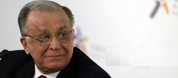 Fostul președinte Ion Iliescu. Foto: AFP