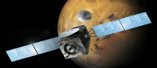 Immagine di Exomars in vicinanza di Marte
