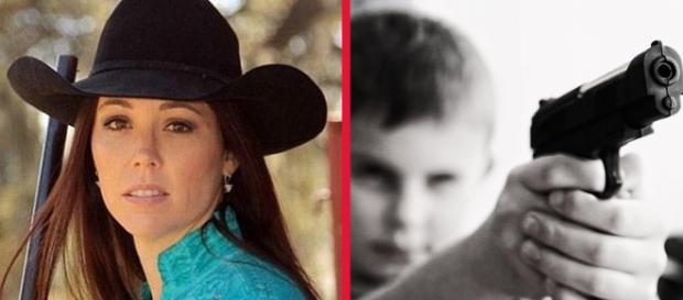 Femeia împuşcată de propriul copil - Foto Facebook