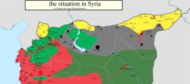L'attuale mappatura della Siria
