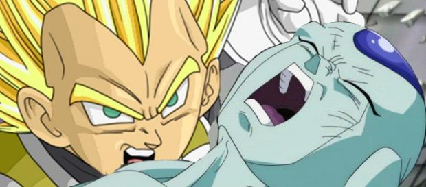 Vegeta super Saiyajin vs Frost - Dragon Ball super