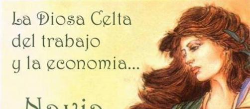 Diosa Celta Navia del trabajo y la economia.