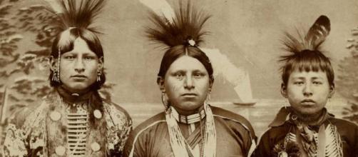 Foto de unos nativos americanos reales