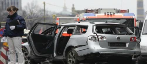 L'auto esplosa questa mattina a Berlino
