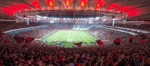 Torcida do Flamengo sempre presente nos estádios.
