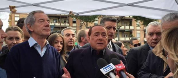 Gazebarie, Bertolaso e Berlusconi (Fonte FB)