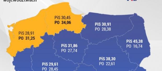 PKW: wyniki wyborów do Sejmu z 2015 roku