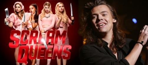 Fotomontaje; Scream Queens y Harry Styles.