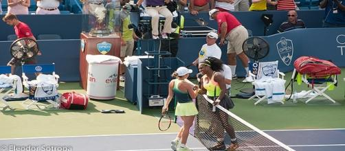 Halep and Williams at Cincinnati. Eleodor/Flickr