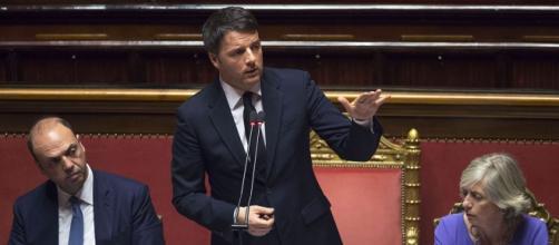 Matteo Renzi nel suo intervento alla Camera