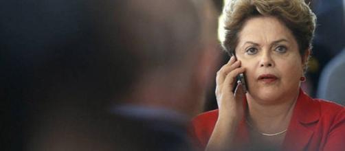 Presidente Dilma grampeada por Moro