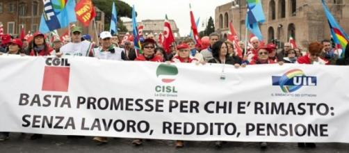 Sindacati in marcia contro il governo