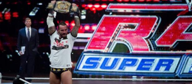 CM Punk on WWE RAW [via flickr.com/jerthebear/]