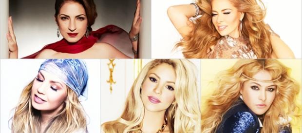 Estefan, Thalía e Shakira fizeram sucesso mundial.