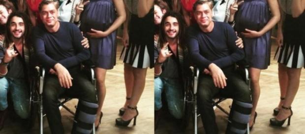 Fábio Assunção grava de Cadeira de rodas