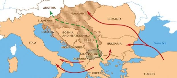 Noua rută a migraţiei spre vest