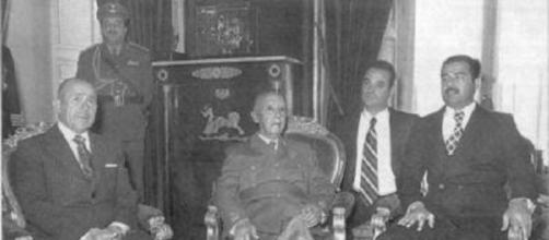 Franco recibe a Sadam Hussein en El Pardo (1973).